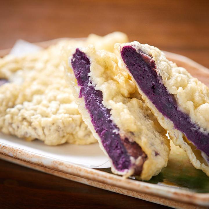 もぅあしびー 紅芋の天ぷら